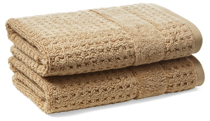 S/2 Hammam Hand Towels, Almond