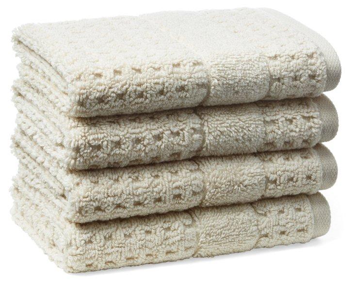 S/4 Hammam Washcloths, Latte