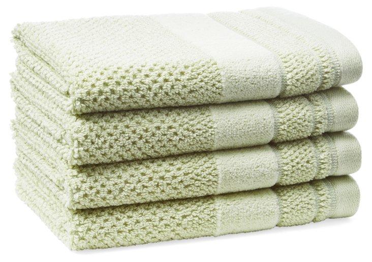 S/4 Textures Washcloths, Celery