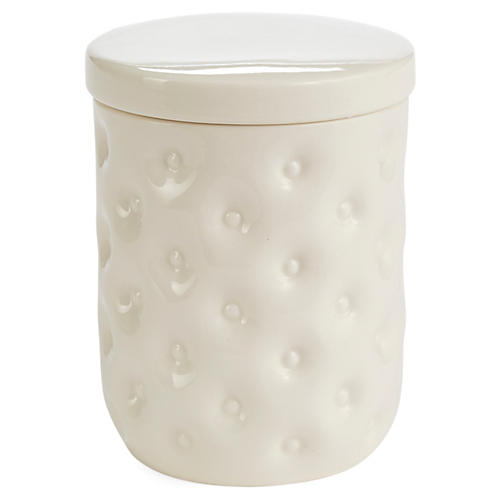 Savoy Cotton Jar, White