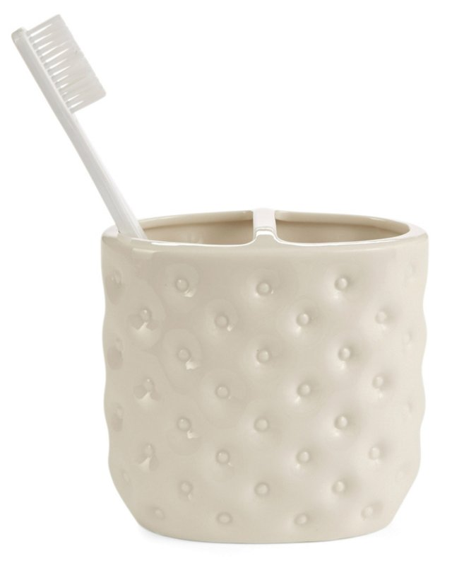 Savoy Toothbrush Holder, White