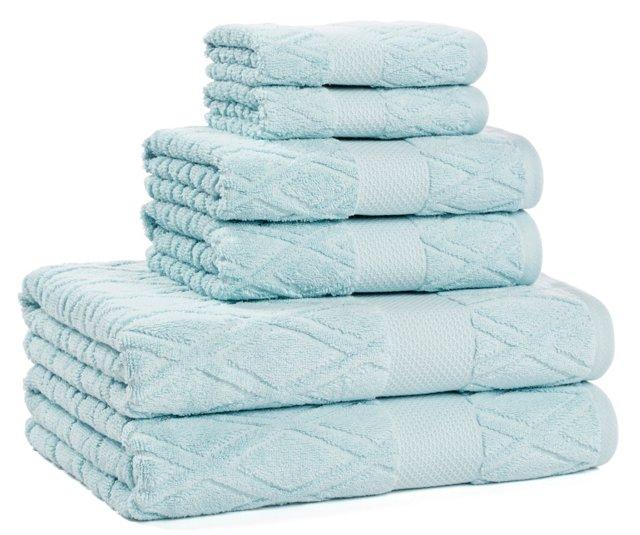 6-Pc Dakota Collection Towel Set, Breeze