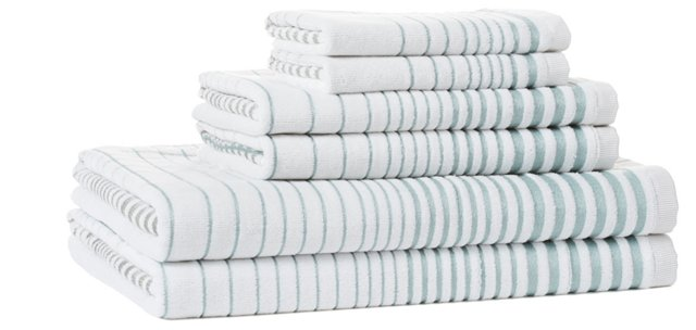 6-Pc Crosby Collection Towel Set, Blue