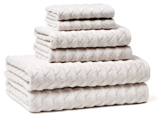 6-Pc Portofino Towel Set, Tan