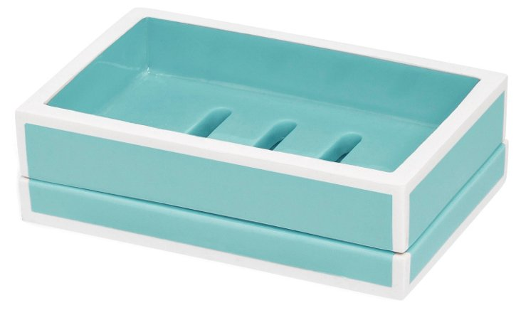 Lacquer Collection Soap Dish, Blue