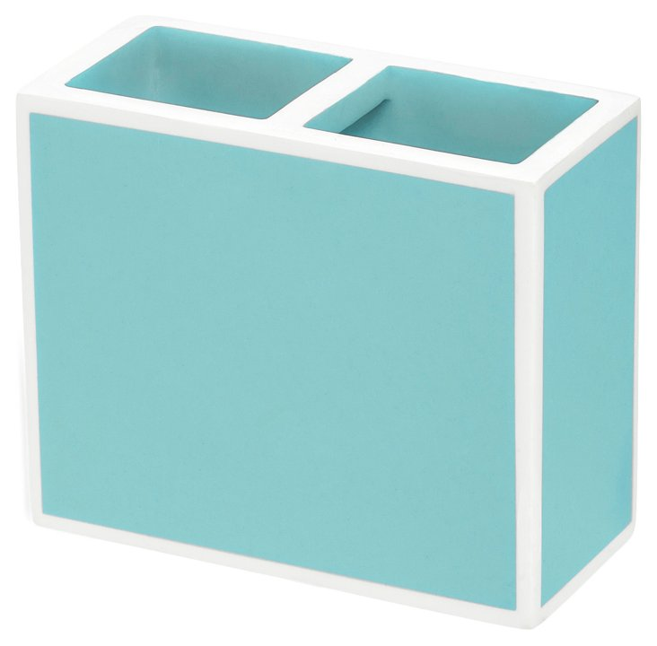 Lacquer Toothbrush Holder, Blue
