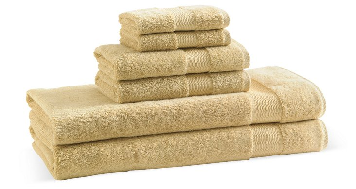6-Pc Bamboo Towel Set, Sunflower