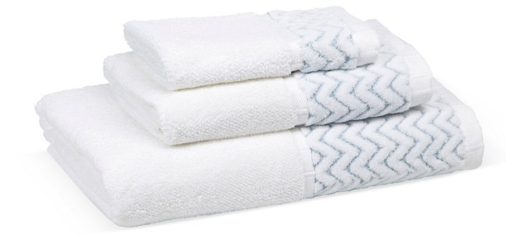 3-Pc Chalet Collection Towel Set, Blue