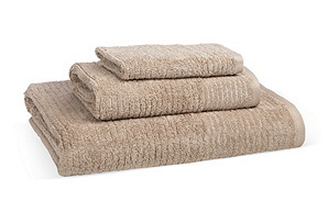 S/3 Lumiere Towels, Chanterelle