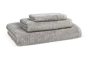 S/3 Lumiere Towels, Gray