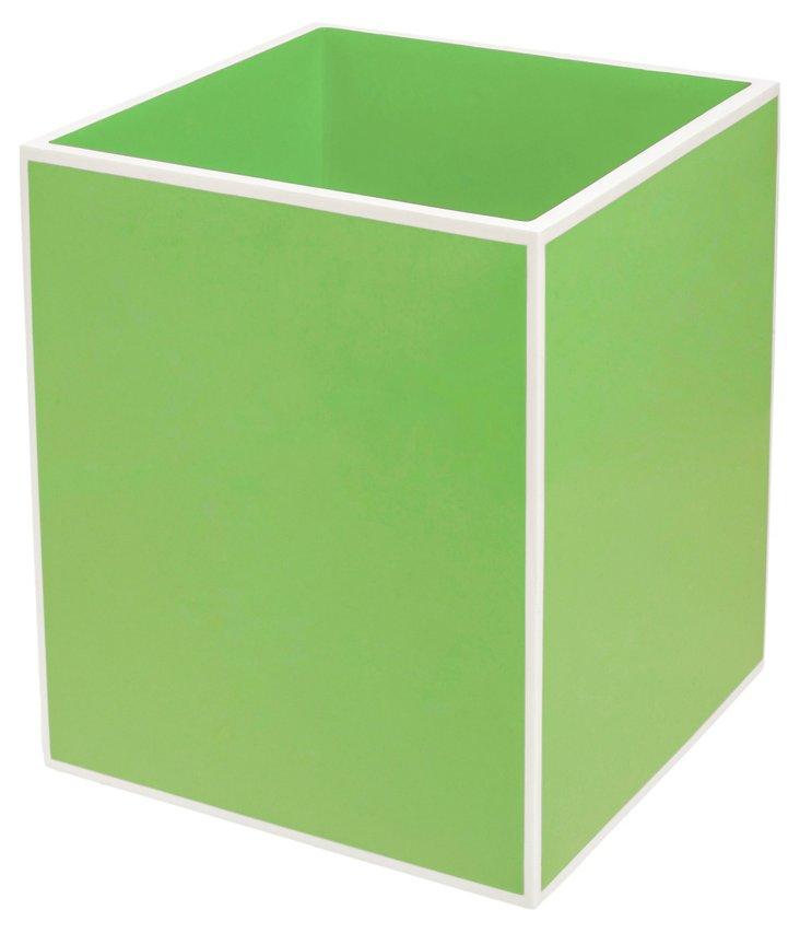 Lacquer Waste Bin, Green