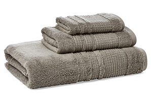S/3 Lido Towels, Granite