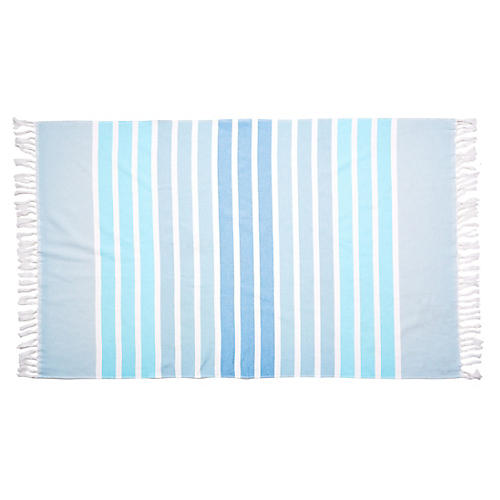 Bodrum Beach Towel, Aqua