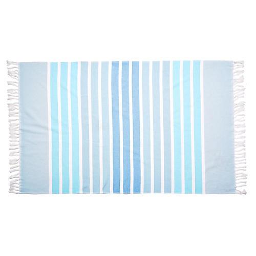 Bodrum Beach Towel, Aqua