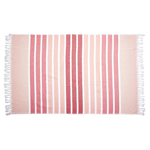 Bodrum Beach Towel, Coral