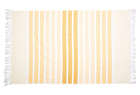 Bodrum Beach Towel, Yellow