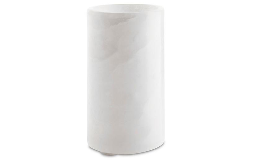 Alabaster Tumbler, White