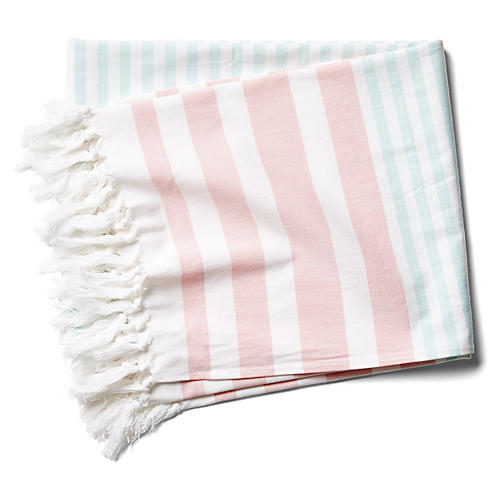 Milas Beach Towel, Dusty Coral