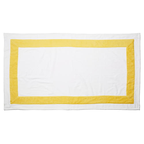 Corsica Beach Towel, Yellow