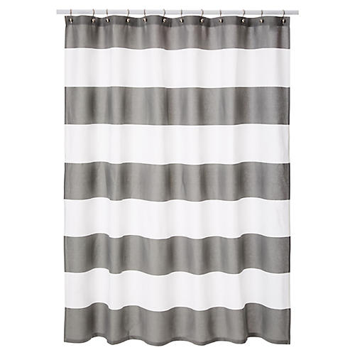 Hampton Shower Curtain, Gray
