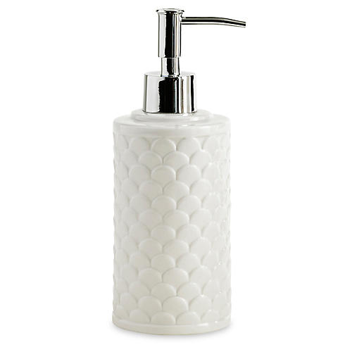 Scala Porcelain Lotion Dispenser, White