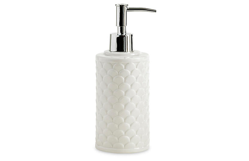 Scala Porcelain Lotion Dispenser, White