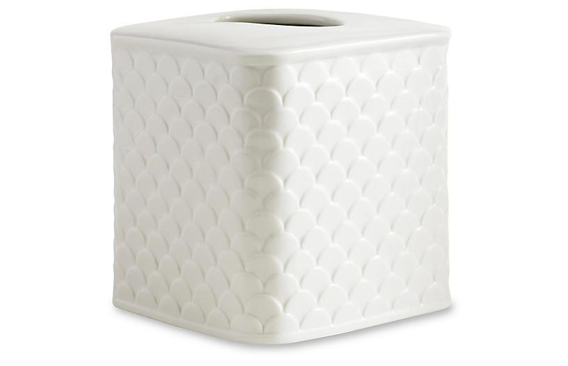 Scala Porcelain Tissue Holder, White