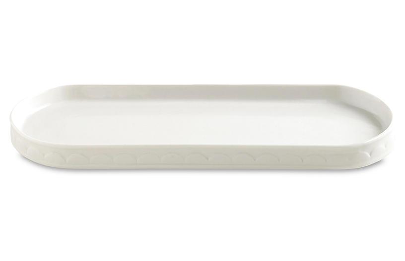 Scala Porcelain Tray, White