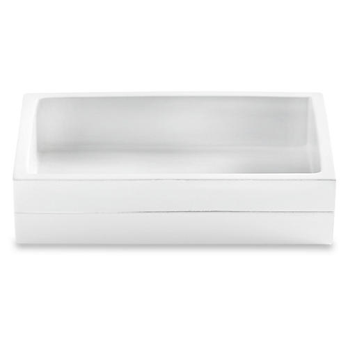 Cabana Soap Dish, White