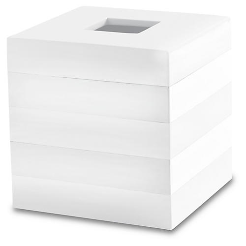Cabana Tissue Holder, White