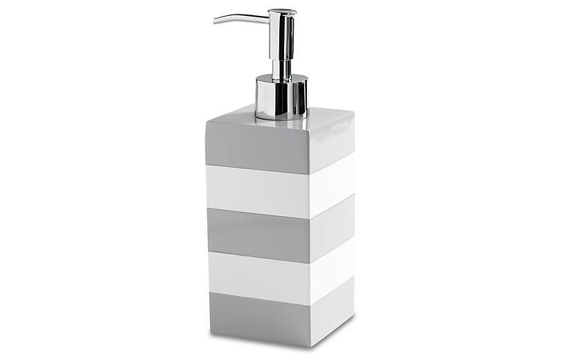 Cabana Lotion Dispenser - Gray - Kassatex