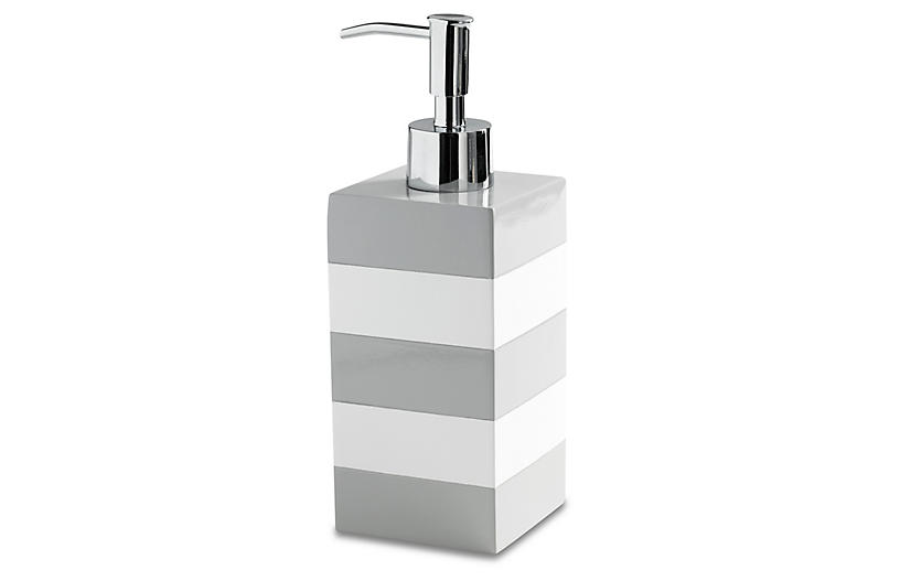 Cabana Lotion Dispenser - Gray - Kassatex