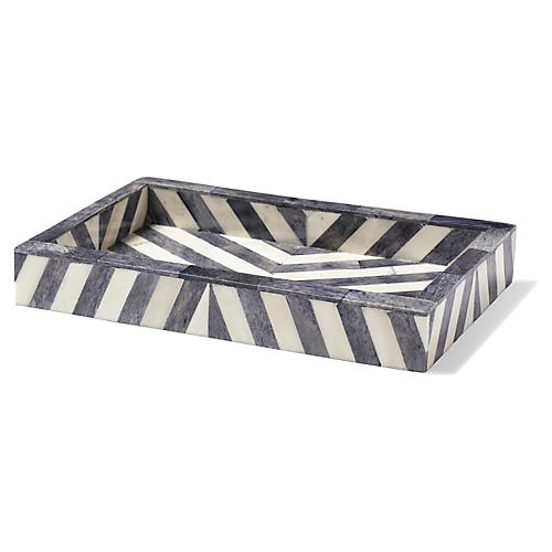 Bristol Soap Dish, Gray/White