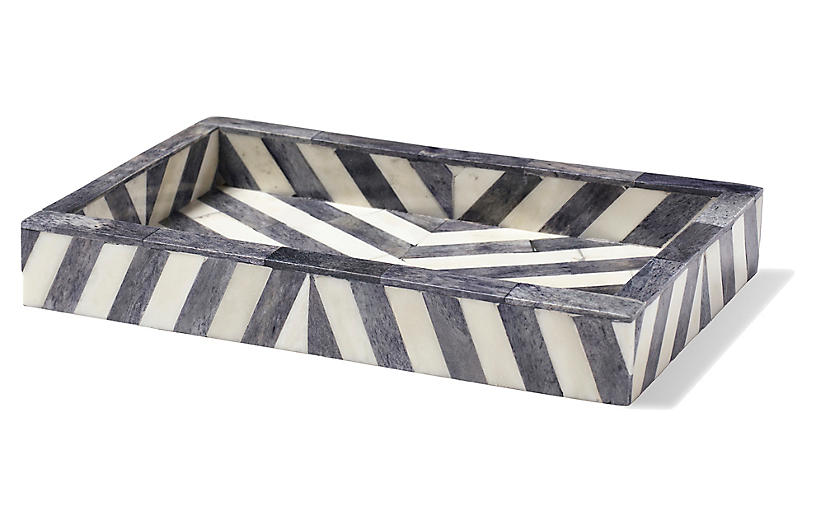 Bristol Soap Dish - Gray/White - Kassatex