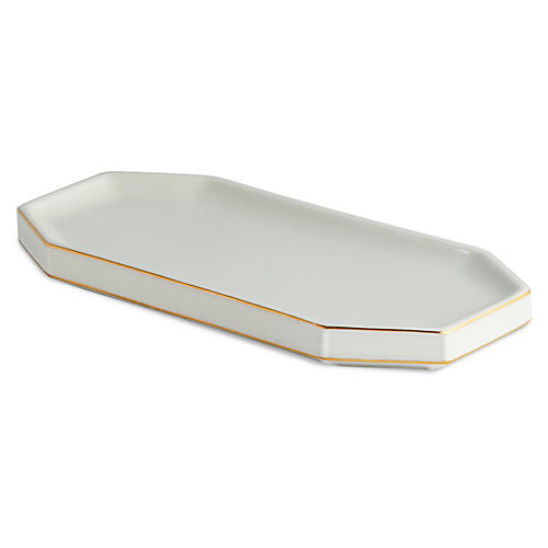 St. Honore Tray, Cream/Gold