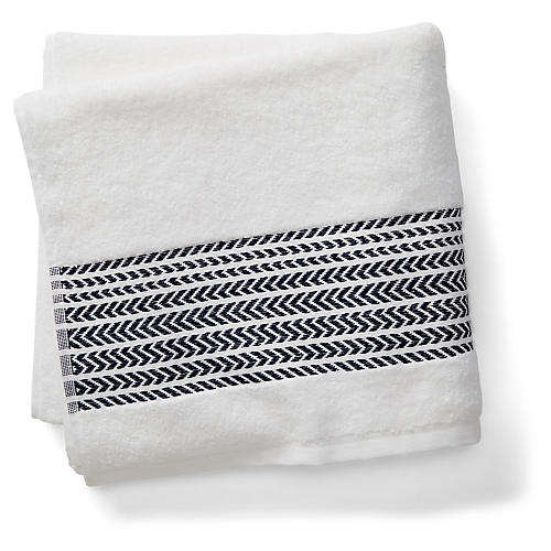 Baja Bath Towel, Black