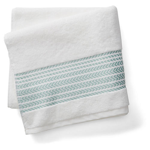 Baja Bath Towel, Green