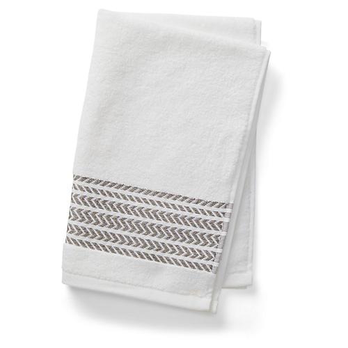 Baja Hand Towel, Aluminum