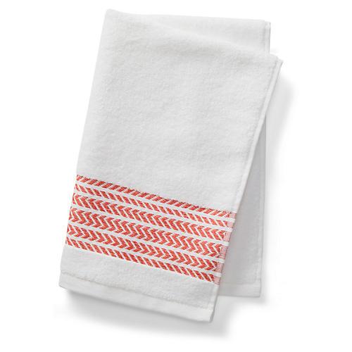 Baja Hand Towel, Poppy Coral