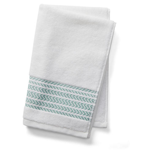 Baja Hand Towel, Green