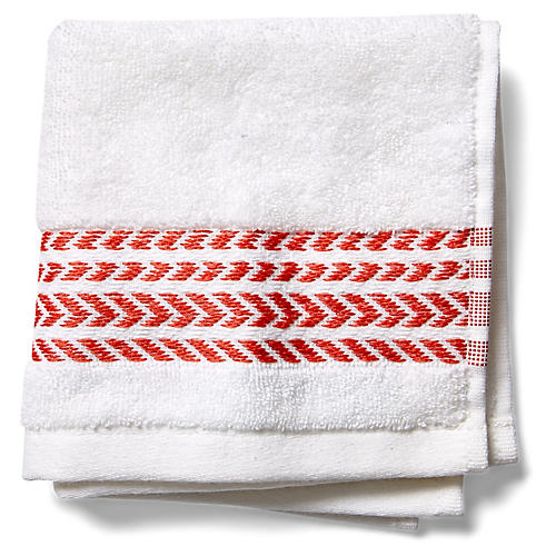 Baja Washcloth, Poppy Coral