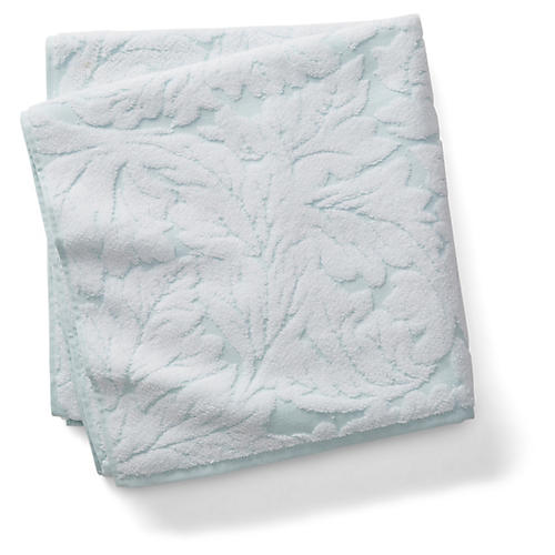 Foglia Bath Towel, Clearwater Blue