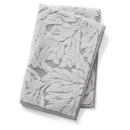 Foglia Hand Towel, Gray