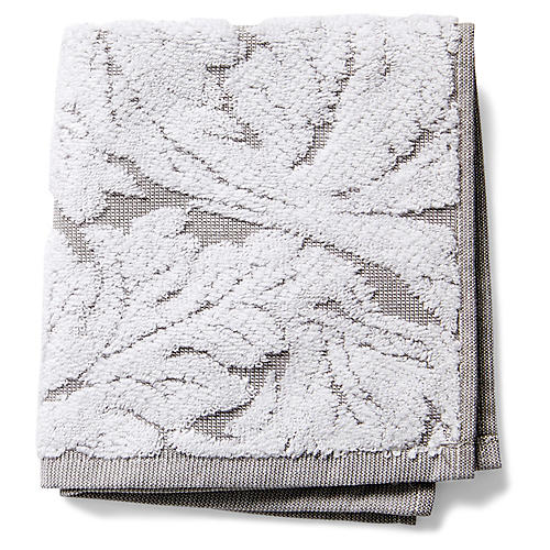 Foglia Washcloth, Gray