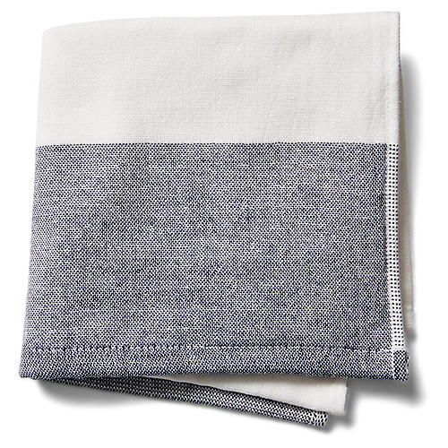 Greenwich Washcloth, Indigo