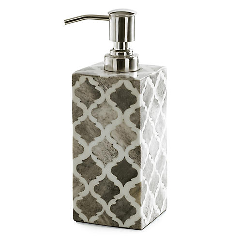 Marrakesh Lotion Dispenser, Gray