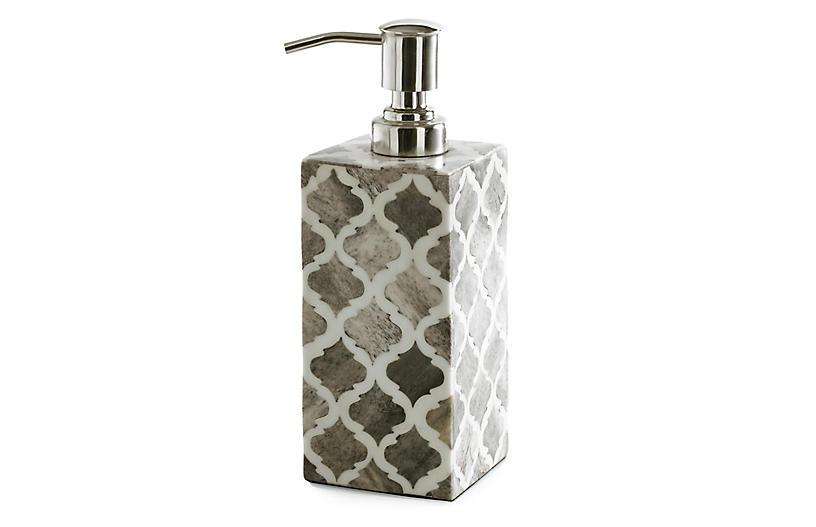 Marrakesh Lotion Dispenser, Gray