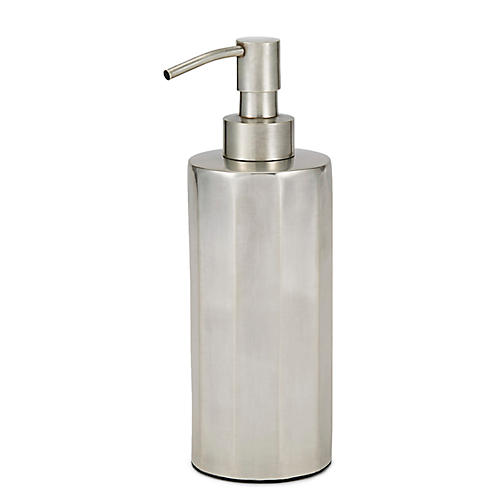 Nomad Lotion Dispenser, Antiqued Silver