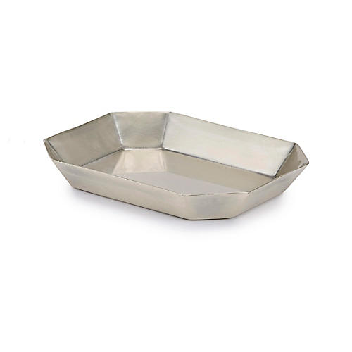 Nomad Soap Dish, Antiqued Silver