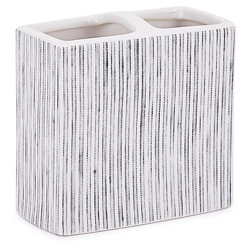 Wainscott Toothbrush Holder, White